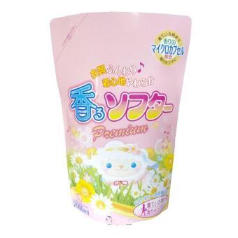 Nước xả làm mềm vải Hồng đậm đặc Sản xuất tại Nhật Bản - 2Lít