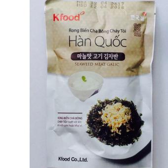 Rong Biển Chà Bông Cháy Tỏi Hàn Quốc Ăn Liền, Không Cần Chế Biến, món ăn vặt tốt cho sức khỏe