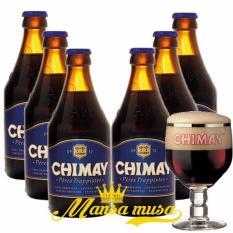 Cập Nhật Giá Sét 6 chai : Chimay Xanh – Bỉ, Châu Âu 9%