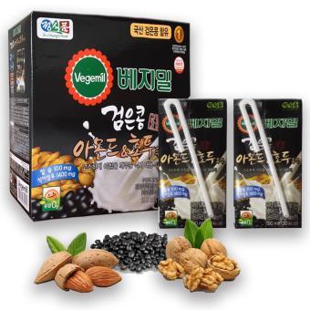 Sữa óc chó hạnh nhân đậu đen Hàn Quốc thùng 16 hộp