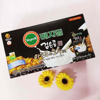 Sữa óc chó hạnh nhân Vegemil Hàn Quốc 190ml – 20 gói/thùng ( Date 03/2018)