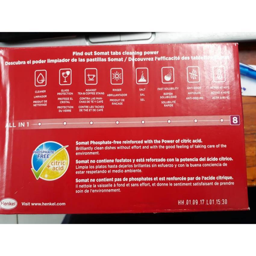 Hình ảnh Viên rửa Somat Multi 5 dùng cho máy rửa chén 28 viên