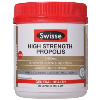 Viên Uống Keo Ong Chống Cảm Cúm và Tăng Sức Đề Kháng- Swisse Ultiboost High Strength Propolis 2000mg 210 Tablets