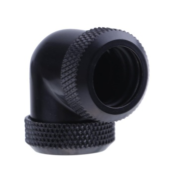 Đánh giá 14mm OD G1/4 Inner Thread 90 Degree Tube Connector for PC Water Cooling(Black)  Tại lotsgoods