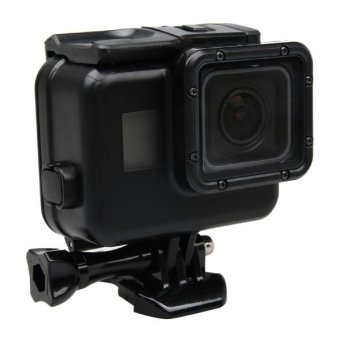 2 In 1 For GoPro HERO5 Touch Screen Back Cover + 45m Waterproof Housing Protective Case(No Need To Disassemble Lens When Installed) With Buckle Basic Mount and Lead Screw (Black) - intl