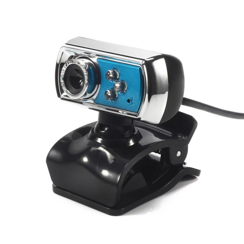 Hình ảnh 3 LED USB 2.0 HD Webcam Camera Web Cam With Microphone Mic For PCLaptop Blue - intl
