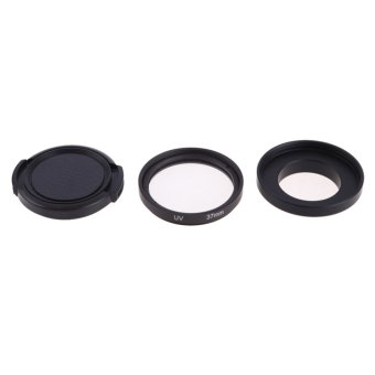 37 mm Filter Adapter Glasses UV Lens Protective Cap for Gopro Hero3 3 4 (Intl:)