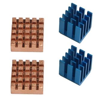 4 PCS Copper Aluminum Cooling Heatsink Heat Sinks for Raspberry Pi2 3