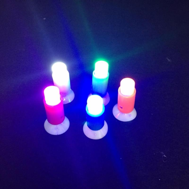 Bảng giá 5 cái! Novelty LED night light sucker thanh cưới giáng sinh trang trí đèn tường và đèn cổ tích đẩy pin ánh sáng Phong Vũ