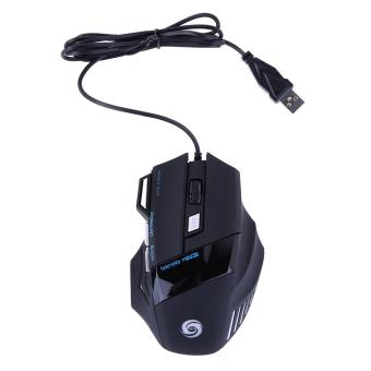 5500 DPI 7 Button Optical USB Wired Gaming Mouse Mice for Pro Gamer(Intl)