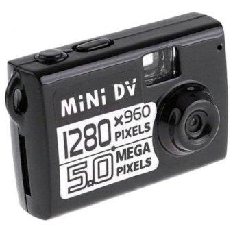 5MP HD Smallest Mini DV Digital Camera Video Sound RecorderCamcorder Pocket DV Webcam DVR 1280x960P Sport DV (Black) - intl