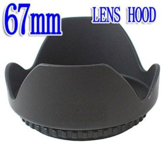 67mm 3-in-1 3-Stage Collapsible Rubber Lens Hood - intl
