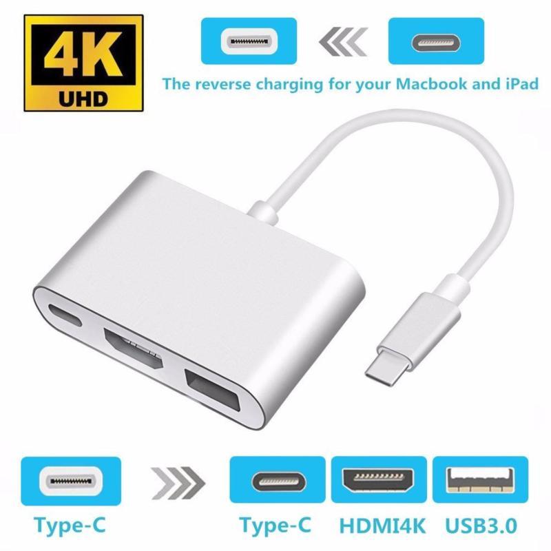 Bảng giá Adapter Hub USB C Kỹ Thuật Số AV Đa Cổng, Loại USB 3.1 Sang Adapter Sạc HDMI 4K Loại C Đầu Cái Và USB 3.0 Dành Cho MacBook 2016 MacBook Pro Google Chromebook Pixel Và Các Thiế Phong Vũ