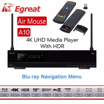 Air Mouse+Egreat A10 Android tv box 3D Blu-ray HEVC 4K Media PlayerTrue-HD SATA 1000M LAN WiFi Free Air Mouse - intl