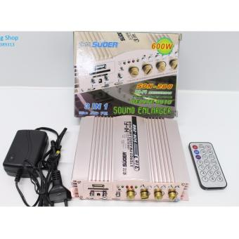 Ampli Mini 12V - 600W+600W Super SO -288 + NGUỒN 12V ( Đồng )