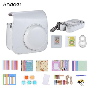 Andoer 14 in 1 Instant Camera Accessories Bundle Kit for Fujifilm Instax Mini 9/8+/8 include Case/Strap/Sticker/Selfie Lens/5 Filter/Album/4 Kinds Film Frame/40 Corner Sticker/Corner Sticker/Pen - intl