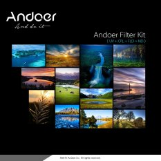 Andoer 77mm UV+CPL+FLD+ND(ND2 ND4 ND8) Photography Filter