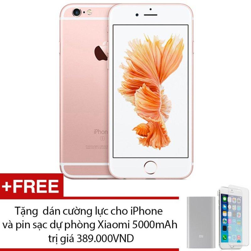Apple iPhone 6S 128GB (Vàng hồng) + Tặng 1 dán cường lực cho iPhone và 1 pin sạc dự phòng Xiaomi 5000mAh - Hàng nhập khẩu