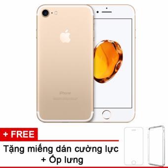 Apple iphone 7 32GB Gold và m.dán cường lực, ốp lưng (Hàng nhập khẩu LLA Mỹ)