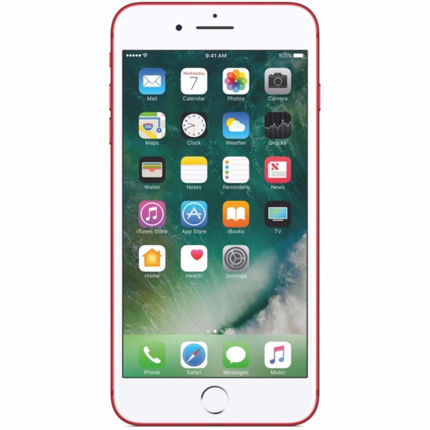Apple iPhone 7 Plus 128GB Đỏ - Hàng nhập khẩu + miếng dán + ốp dẻo trong suốt