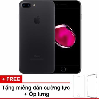 Apple iphone 7plus 128GB Black và m.dán cường lực, ốp lưng (Hàng nhập khẩu LLA Mỹ)