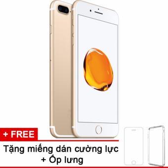 Apple iphone 7plus 32GB Gold và m.dán cường lực, ốp lưng (Hàng nhập khẩu LLA Mỹ)
