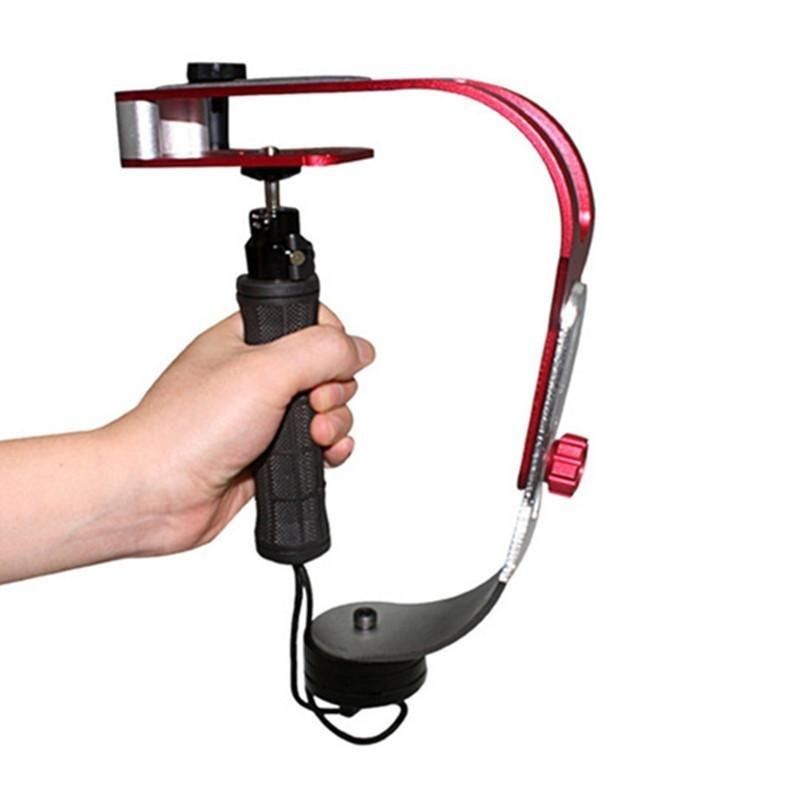 Hình ảnh Arcuate SLR DV Video Handheld Camera Stabilizer Camera Shock Absorber Video Surveillance Stand (Red) - intl