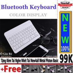 Chi tiết sản phẩm Bàn phím Bluetooth New4all V100 cho điện thoại thông minh (Trắng) + Tặng 01 tai nghe nhét tai New4all Piston Basic
