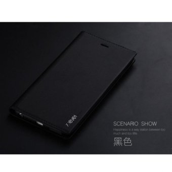 Bao da FIBCOLOR X-level cho iPhone 6 /6s (đen)