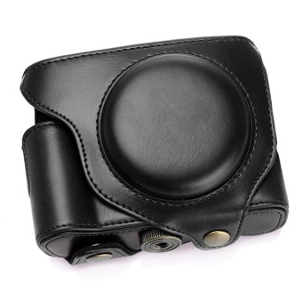 Black PU Leather Camera DSLR Protective Case Bag for Fujifilm FujiX70 - intl
