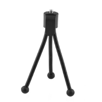 Black Small Tripod Mount Flexible Holder for Action Cam 808 #16Camera - intl