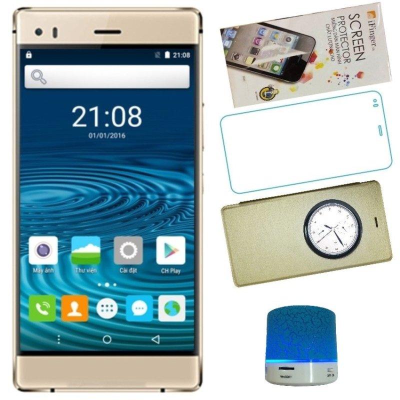 Bộ 1 Arbutus Ar3 8GB 2 Sim (Vàng) + 1 Loa Bluetooth + 1 Bao da + 1 Miếng dán màn hình + 1 Cường lực - Hàng nhập khẩu