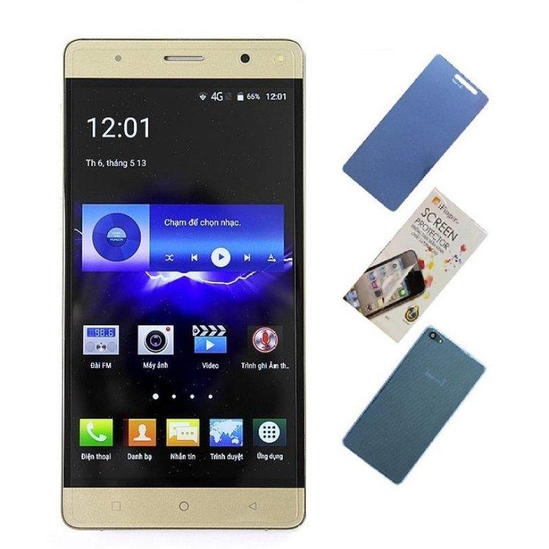 Bộ 1 Arbutus AR8 Plus 8GB (Vàng) + 1 Cường lực + 1 Miếng dán màn hình + 1 Ốp lưng