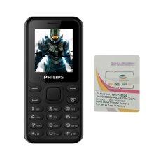 Bảng Giá Bộ 1 ĐTDĐ Philips E105 1.77inch 2 Sim (Đen) – Hãng phân phối chính thức + Sim Viettel
