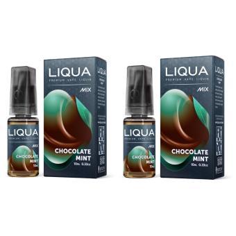 Bộ 2 chai tinh dầu Vape - Shisha - thuốc lá điện tử Liqua MixChocolate Mint 10ml (Vị Sô cô la và Bạc Hà)