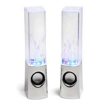 Bộ 2 Loa nhạc nước ánh sáng 3D (Trắng)