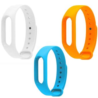 B��� 3 d��y ��eo Xiaomi miband 2 (tr���ng xanh d����ng cam)
