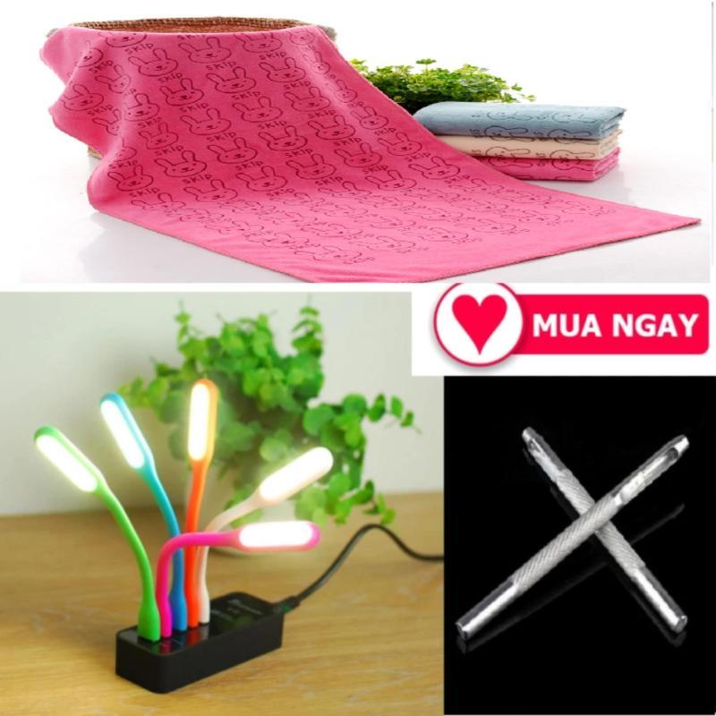 Bảng giá Bộ 3 sản phẩm 01 đèn usb siêu sáng + 01 khăn tắm + 01 đinh đục lỗ thắt lưng Phong Vũ