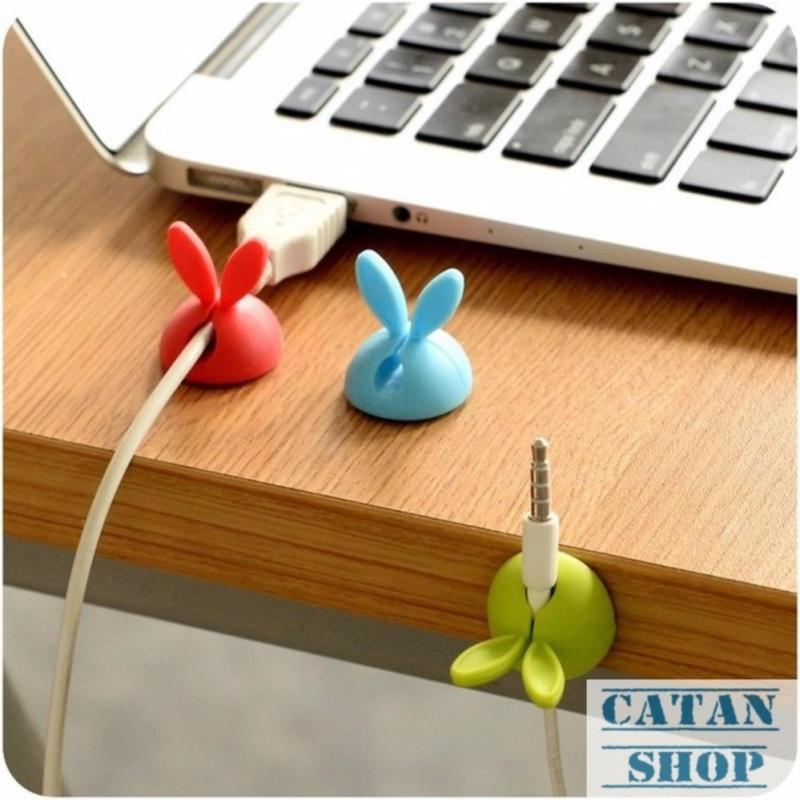 Bảng giá Bộ 8 Nút giữ dây điện hình tai thỏ chống xoắn rối, cáp sạc, máy in, dây chuột,… siêu cute tiện lợi GD05-GDD-2 (màu ngẫu nhiên) Phong Vũ