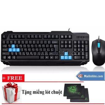 Bộ bàn phím & chuột Game Ensoho S50 + khuyến mại bàn di chuột (Đen)