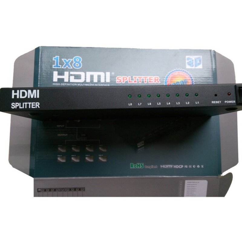 Bảng giá Bộ chia HDMI 1 ra 8 (Đen) Phong Vũ