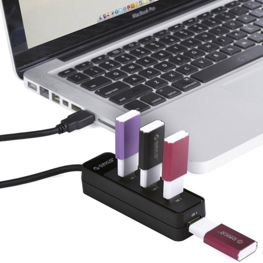 Bộ chia Hub 4 cổng USB 3.0 Orico W5PH4-U3 (Đen)