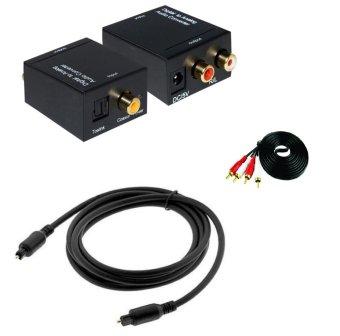 Bộ chuyển âm thanh TV 4K và Cáp quang Optical Digital 1.5m và DâyAV 2-2 loại 2m