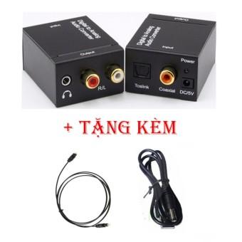 Bộ chuyển đổi âm thanh Digital ( Optical từ Smart Tivi ) to Ânalog ( R/L , 3.5mm ) Loa...