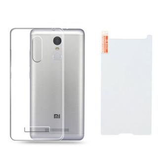 Bộ dán kính cường lực và ốp lưng silicon Redmi Note 3 Pro
