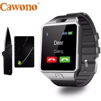 Bộ đồng hồ thông minh Cawono Z09 2017 (Đen bạc) và dao gấp hình thẻ
