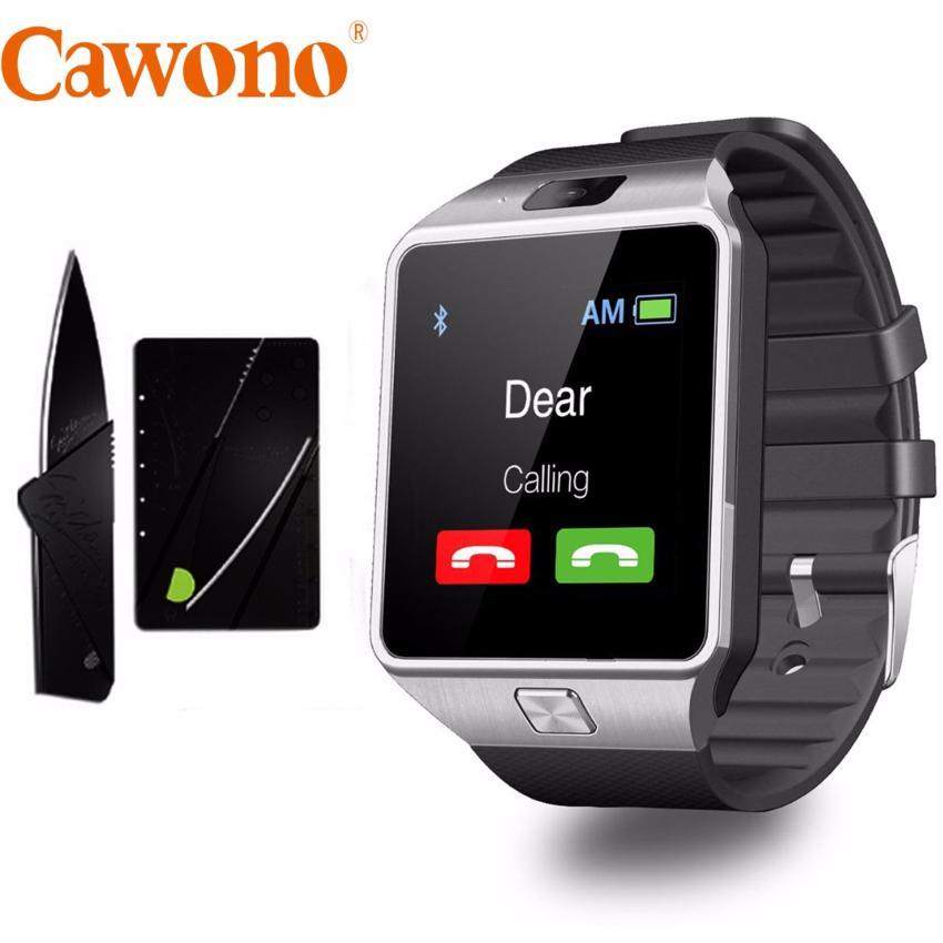 Hình ảnh Bộ đồng hồ thông minh Cawono Z09 2017 (Đen bạc) và dao gấp hình thẻ