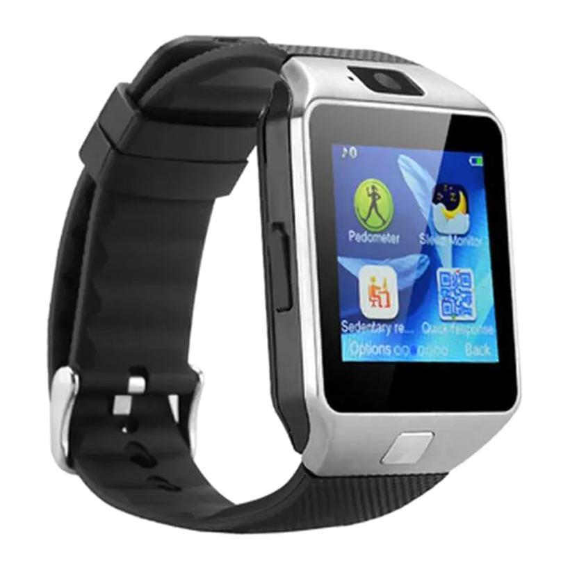Hình ảnh Bộ đồng hồ thông minh Smart Watch DZ09 (Đen phối bạc) + Thẻ nhớ 8GB