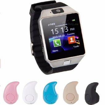 Bộ Đồng hồ thông minh Smart Watch Uwatch DZ09 Plus và 1 Tai nghe Bluetooth mini S530 (màu sắc ngẫu nahiên)