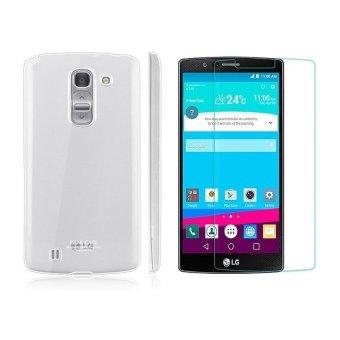 Bộ kính cường lực và ốp silicon cho LG G4 (trong suốt)